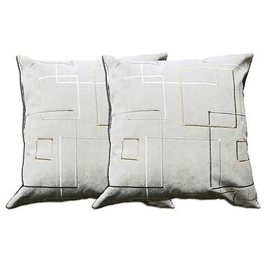 Acura Rugs Decorative Throw Pillow (Set of 2); Grey