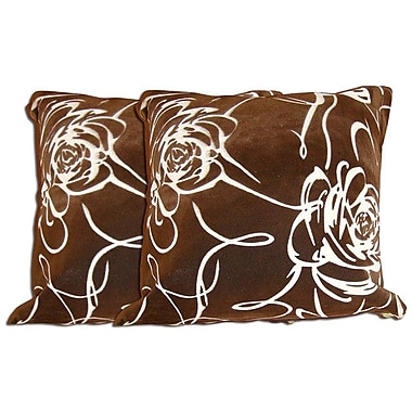 Acura Rugs Decorative Throw Pillow (Set of 2); Brown