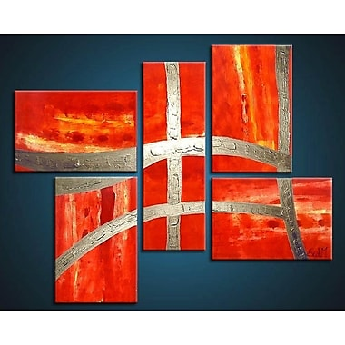 Acura Rugs Victory 5 Piece Framed Painting on Wrapped Canvas Set