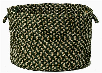 Colonial Mills Brook Farm Braided Utility Basket; Winter Greens
