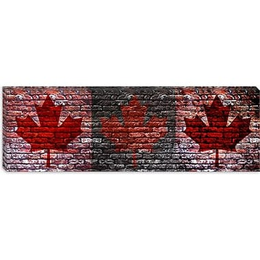 iCanvas Canada Flag Maple Leaf Panoramic Graphic Art on Canvas; 16'' H x 48'' W x 1.5'' D