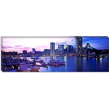 iCanvas Panoramic Sunset Inner Harbor, Baltimore, Maryland Photographic Print on Canvas
