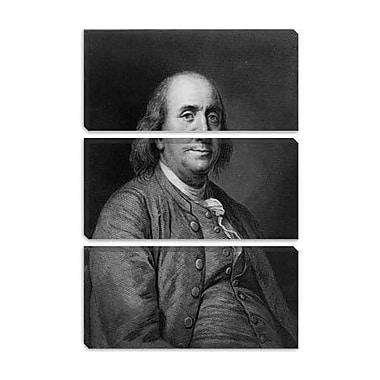 iCanvas Political Benjamin Franklin Portrait Graphic Art on Canvas; 18'' H x 12'' W x 0.75'' D