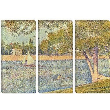 iCanvas 'Banks of Seine 1888' by Georges Seurat Painting Print on Canvas; 26'' H x 40'' W x 1.5'' D
