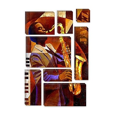 iCanvas 'Jammin' by Keith Mallett Painting Print on Canvas; 18'' H x 12'' W x 0.75'' D