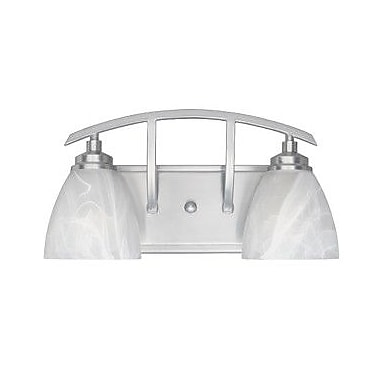 Designers Fountain Tackwood 2-Light Vanity Light; Satin Platinum