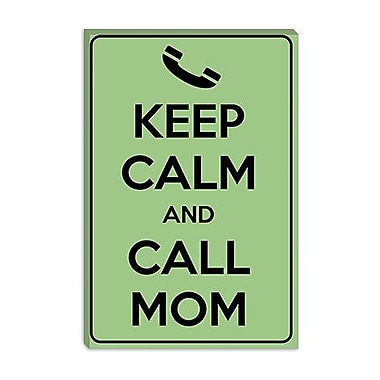 iCanvas Keep Calm and Call Mom Textual Art on Canvas; 60'' H x 40'' W x 1.5'' D