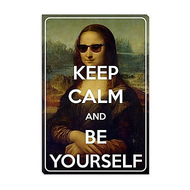 iCanvas Keep Calm and Be Yourself Graphic Art on Canvas; 40'' H x 26'' W x 0.75'' D