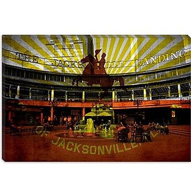 iCanvas Jacksonville Flag, Jacksonville Landing Graphic Art on Canvas; 40'' H x 60'' W x 1.5'' D