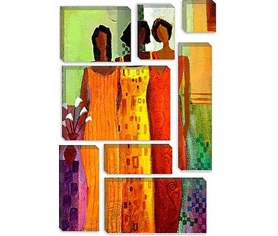 iCanvas 'Girlfriends' by Keith Mallett Painting Print on Canvas; 26'' H x 18'' W x 1.5'' D