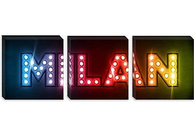 iCanvas 'Milan' by Michael Tompsett Textual Art on Canvas; 20'' H x 60'' W x 0.75'' D