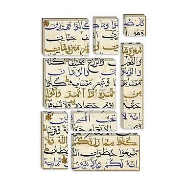 iCanvas Islamic Leaf from the Koran Written in Bihari India Textual Art on Canvas
