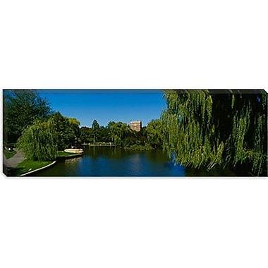 iCanvas Panoramic Boston Public Garden, Massachusetts Photographic Print on Canvas