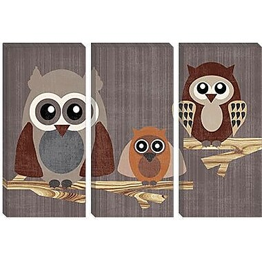 iCanvas 'Owls' by Erin Clark Graphic Art on Canvas; 40'' H x 60'' W x 1.5'' D