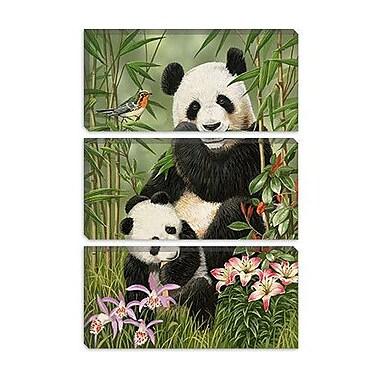 iCanvas 'Panda Paradise' by William Vanderdasson Painting Print on Canvas; 18'' H x 12'' W x 1.5'' D
