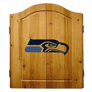 Imperial International NFL Team Logo Complete Dart Cabinet Set; Seattle Seahawks
