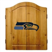 Imperial NFL Team Logo Complete Dart Cabinet Set; Seattle Seahawks