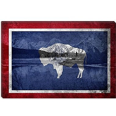 iCanvas Wyoming Flag, Grand Teton Nationl Park Graphic Art on Canvas; 18'' H x 26'' W x 0.75'' D