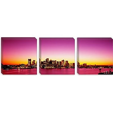 iCanvas Panoramic Sunset Boston, Massachusetts, Photographic Print on Canvas