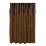 HiEnd Accents Austin Faux Leather Shower Curtain