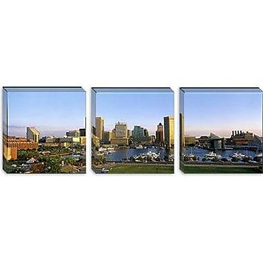 iCanvas Panoramic Baltimore, Maryland Photographic Print on Canvas; 30'' H x 90'' W x 1.5'' D