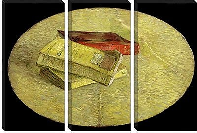 iCanvas 'Drie boeken (Three Books)' by Vincent Van Gogh Painting Print on Canvas