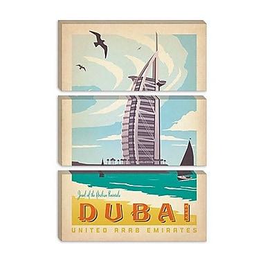 iCanvas 'Dubai, United Arab Emirates' by Anderson Design Group Vintage Advertisement on Canvas