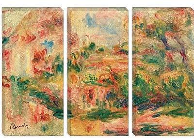 iCanvas 'Paysage 1919' by Pierre-Auguste Renoir Painting Print on Canvas; 26'' H x 40'' W x 0.75'' D