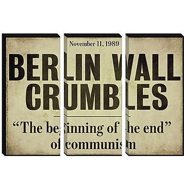 iCanvas Color Bakery 'Berlin Wall' Textual Art on Canvas; 12'' H x 18'' W x 1.5'' D