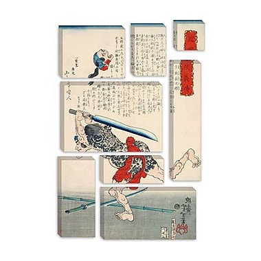 iCanvas Japanese Man w/ Sword Woodblock Graphic Art on Canvas; 40'' H x 26'' W x 1.5'' D