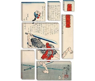 iCanvas Japanese Man w/ Sword Woodblock Graphic Art on Canvas; 60'' H x 40'' W x 1.5'' D