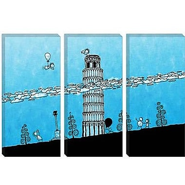 iCanvas Kids Children Leaning Tower of Pisa Graphic Canvas Wall Art; 18'' H x 26'' W x 1.5'' D