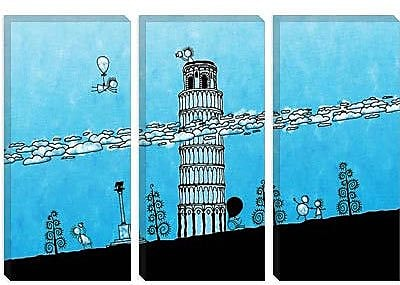 iCanvas Kids Children Leaning Tower of Pisa Graphic Canvas Wall Art; 40'' H x 60'' W x 1.5'' D