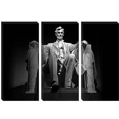 iCanvas Political Lincoln Memorial Photographic Print on Canvas; 12'' H x 18'' W x 0.75'' D