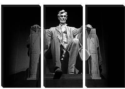 iCanvas Political Lincoln Memorial Photographic Print on Canvas; 8'' H x 12'' W x 0.75'' D