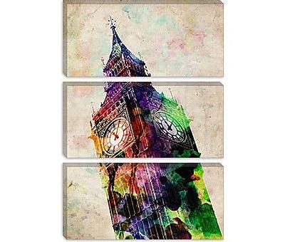 iCanvas 'London Big Ben' by Michael Tompsett Graphic Art on Canvas; 40'' H x 26'' W x 0.75'' D