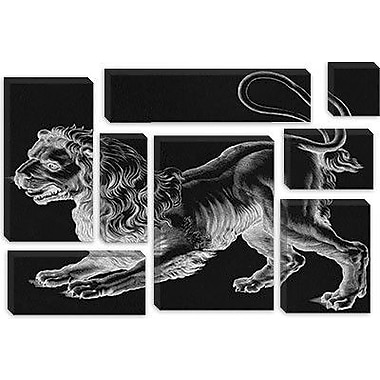 iCanvas Astronomy and Space 'Leo (Lion) II' Painting Print on Canvas; 26'' H x 40'' W x 0.75'' D