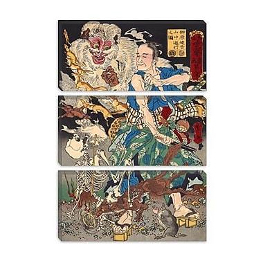 iCanvas Japanese Art 'Sakakibara Kenkichi' by Kawanabe Kyosai Painting Print on Canvas