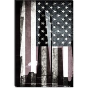 iCanvas Flags New York Freedom Tower Graphic Art on Canvas; 60'' H x 40'' W x 1.5'' D