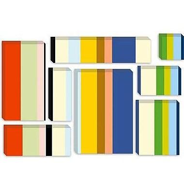 iCanvas 'New York Soho Striped' Graphic Art on Canvas; 26'' H x 40'' W x 0.75'' D