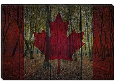 iCanvas Canada Flag #3 Graphic Art on Canvas; 26'' H x 40'' W x 0.75'' D
