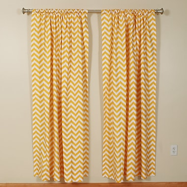 The Pillow Collection Pocket Curtain Panels (Set of 2); 50'' W x 84'' L