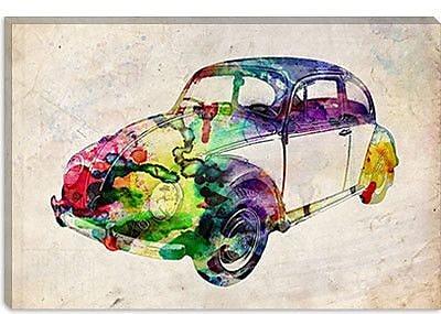 iCanvas 'VW Beetle (Urban)' by Michael Tompsett Graphic Art on Canvas; 26'' H x 40'' W x 1.5'' D