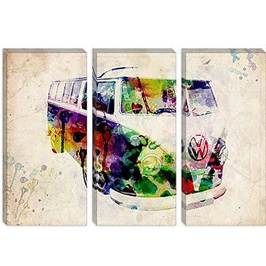 iCanvas 'VW Camper Van (Urban)' by Michael Tompsett Graphic Art on Canvas; 8'' H x 12'' W x 0.75'' D