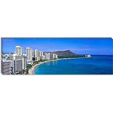 iCanvas Panoramic Waikiki Honolulu Oahu HI Photographic Print on Canvas; 16'' H x 48'' W x 1.5'' D