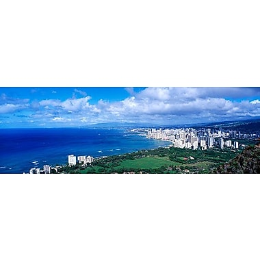 iCanvas Panoramic Waikiki Honolulu Oahu HI Photographic Print on Canvas; 16'' H x 48'' W x 0.75'' D