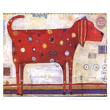 Evive Designs Red Stripes by Jill Mayberg Painting Print
