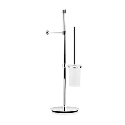WS Bath Collections Complements Freestanding Toilet Paper Dispenser and Toilet Brush Holder
