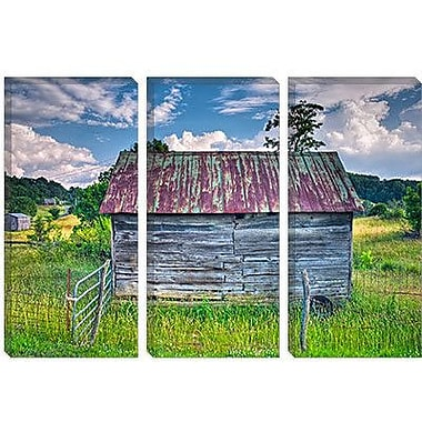 iCanvas 'Small Barn' by Bob Rouse Painting Print on Canvas; 26'' H x 40'' W x 1.5'' D