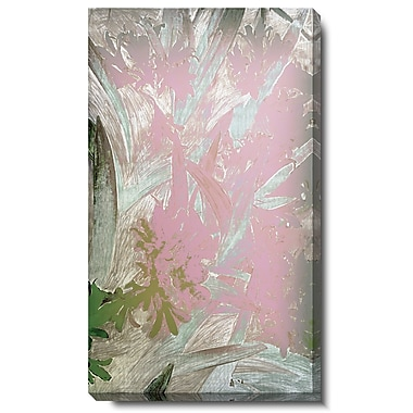 Studio Works Modern ''Lily Bloom'' by Zhee Singer Painting Print on Wrapped Canvas